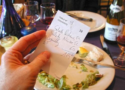 Rachunek w restauracji