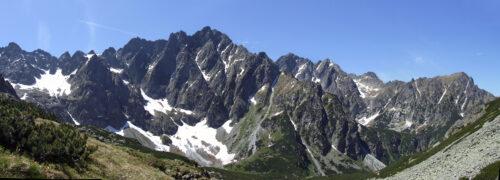 Szczyty Tatr Wysokich, widok z Doliny Litworowej