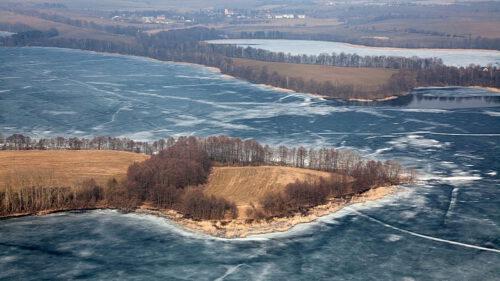 mazurskie jeziora zimą